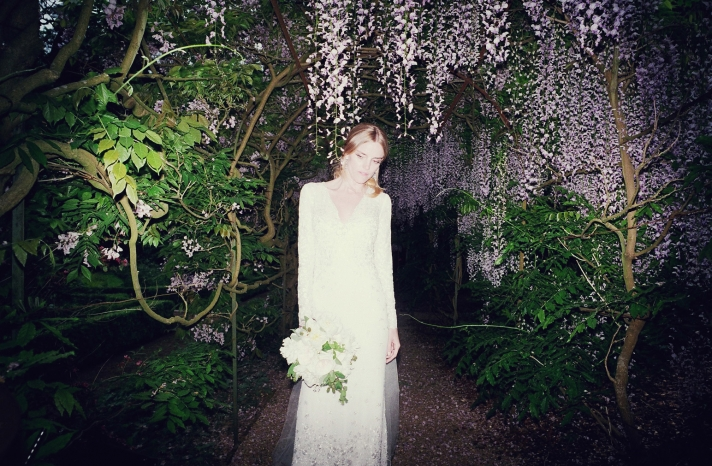 Celebrity wedding Dhani Harrison high fashion bride