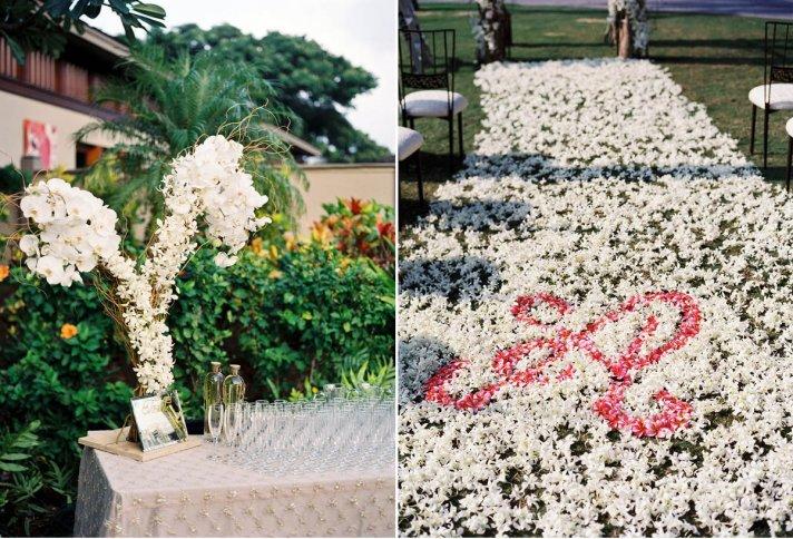 wedding flower monograms and initials to personalize