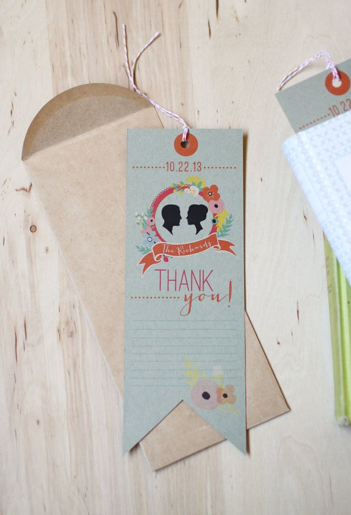 DIY wedding bookmark favor