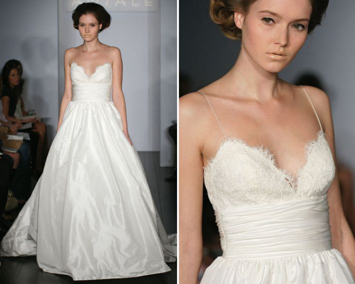 Amsale Coco lace and taffeta wedding dress
