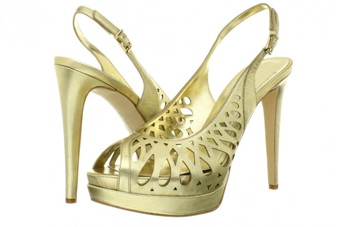 Glamorous gold wedding shoes BCBG Generation