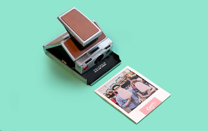 retro polaroid wedding invitation