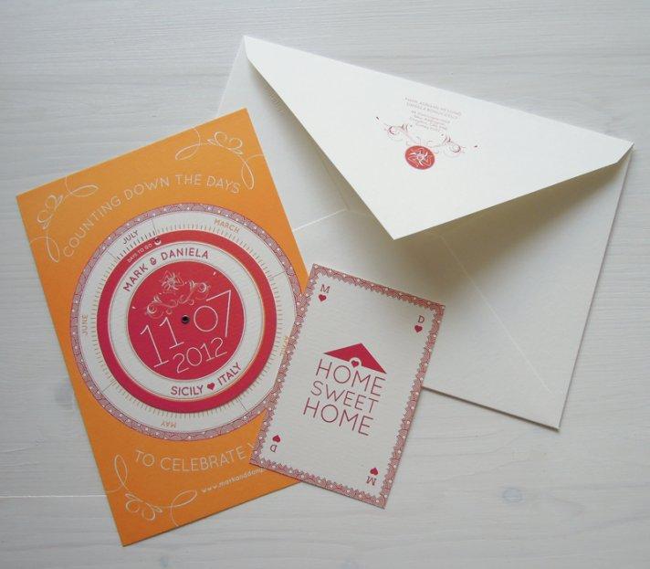 interactive spin wheel wedding invitation