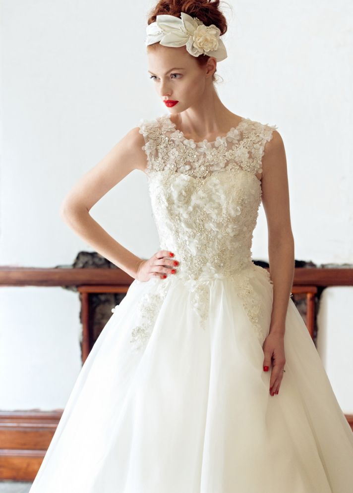 Rose wedding dress by Charlotte Balbier 2014 bridal