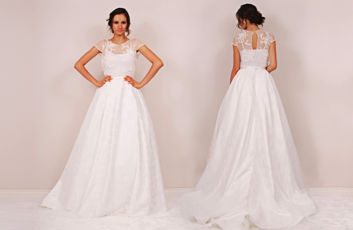 Chambers Minetta wedding dress by Sunjin Lee 2014 bridal two piece