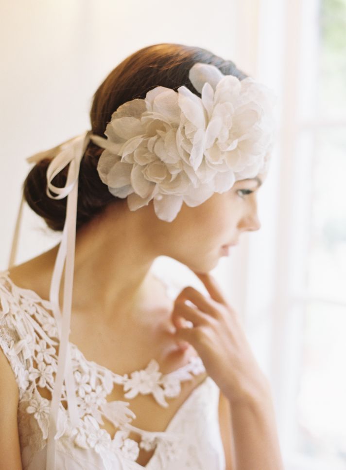 Beautiful wedding veils and hair accessories by Erica Elizabeth Designs 1