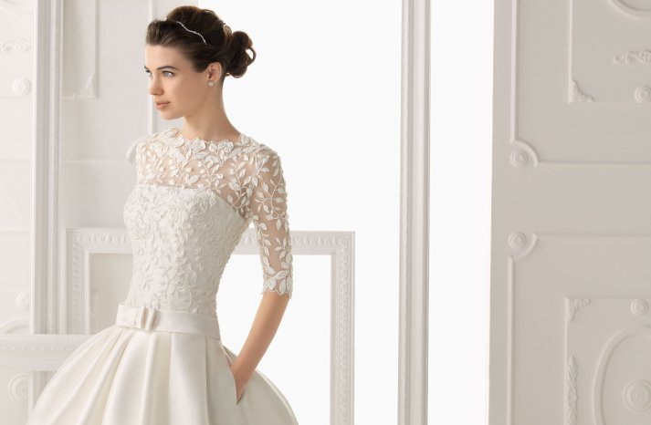 Wedding dresses for Fall 2014 Aire Barcelona