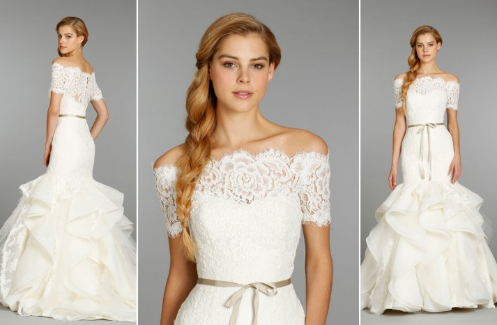 Hayley Paige sleeved wedding dress Fall 2013 bridal