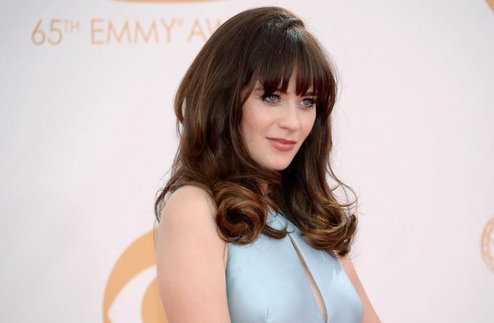 2013 Emmys wedding hair and makeup inspiration Zooey Deschanel