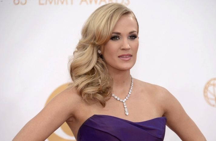 2013 Emmys wedding hair and makeup inspiration Carrie Underwood