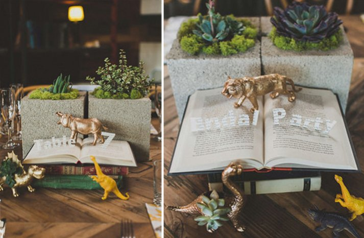 pop up book wedding centerpiece
