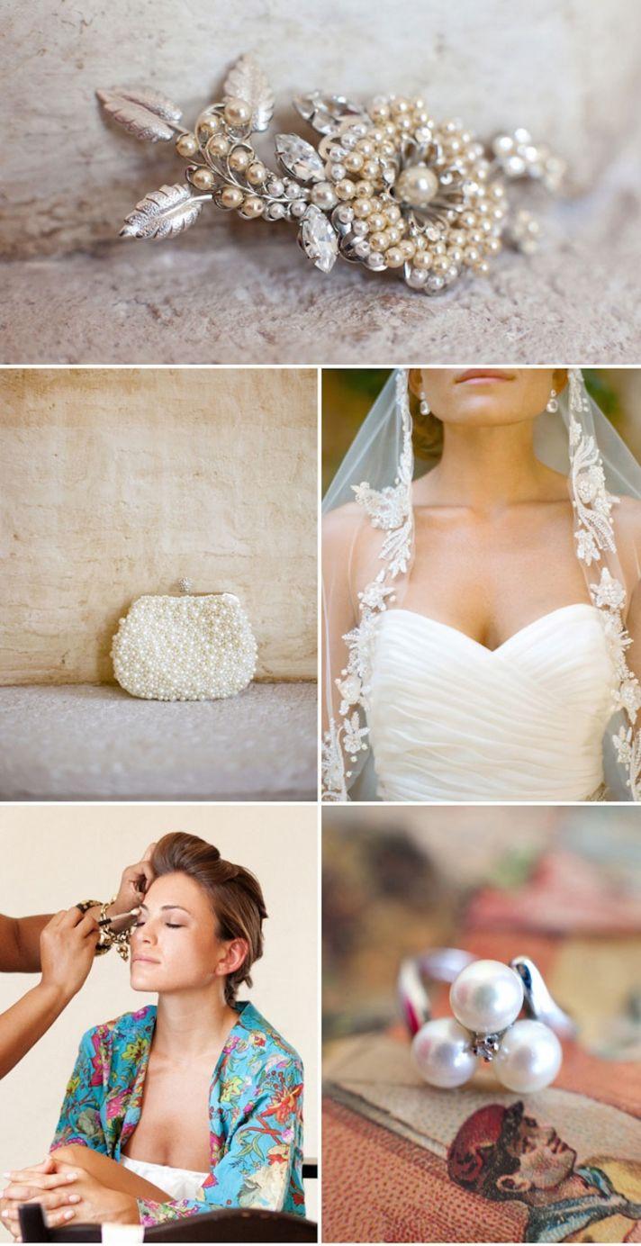 Bright destination wedding in Mexico by Aaron Delesie bridal accessories