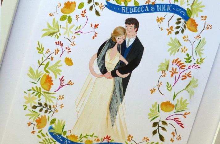 beautiful wedding illustrations and portraits 1