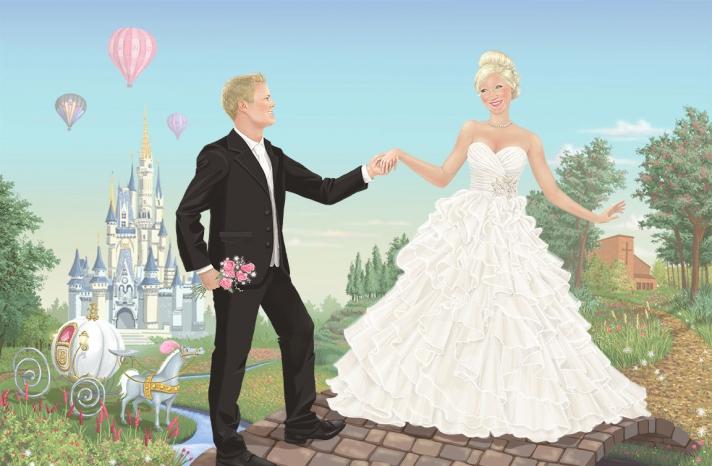 Fairytale inspired wedding portrait