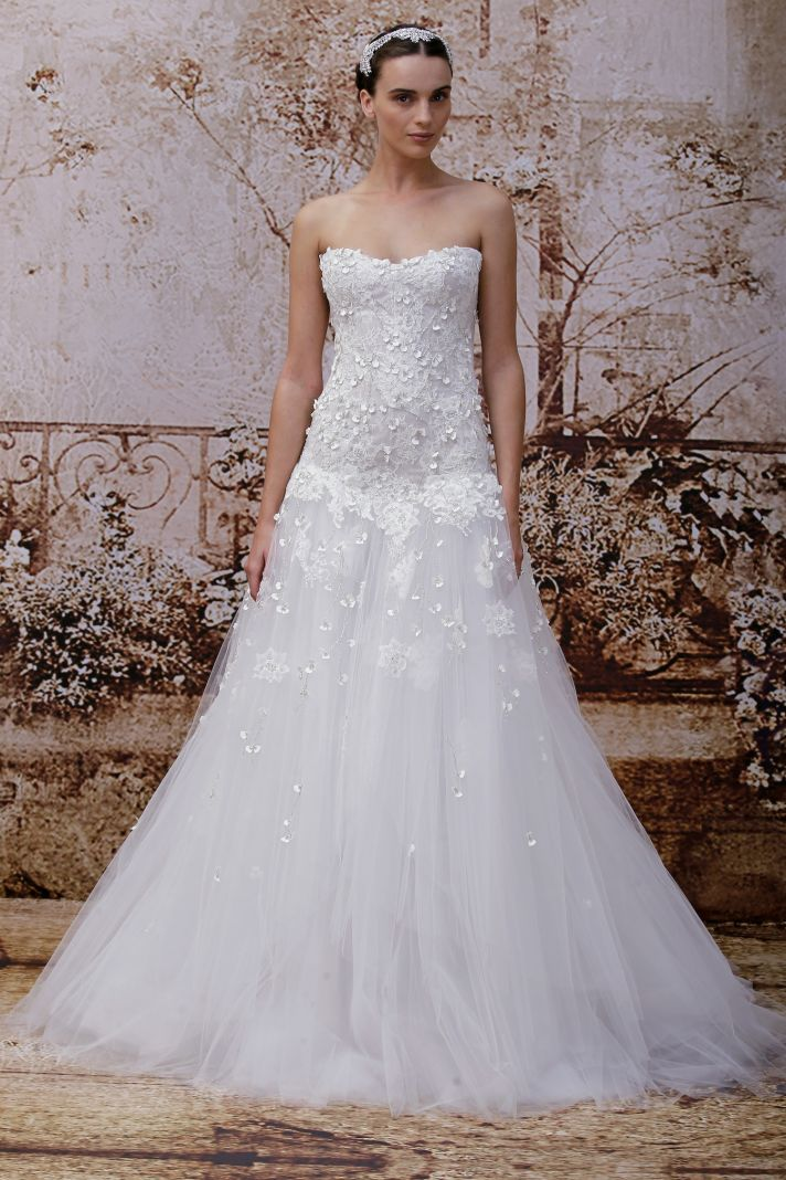 Wedding dress by Monique Lhuillier Fall 2014 bridal Look 25