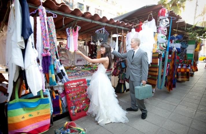ruffled alencon lace white wedding dress