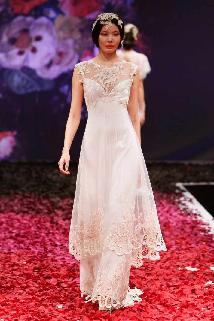 Sonata wedding dress by Claire Pettibone 2014 Still Life bridal collection