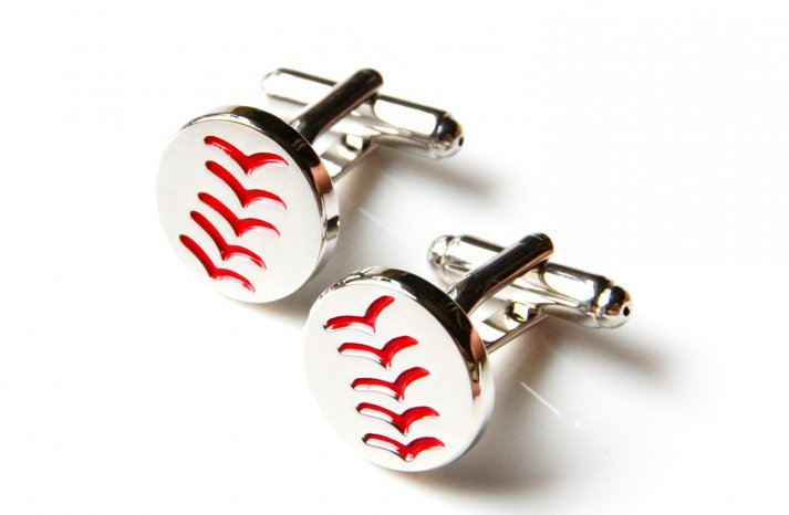 baseball cuff links for grooms