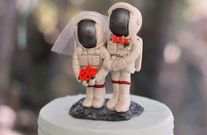 Astronaut wedding cake topper