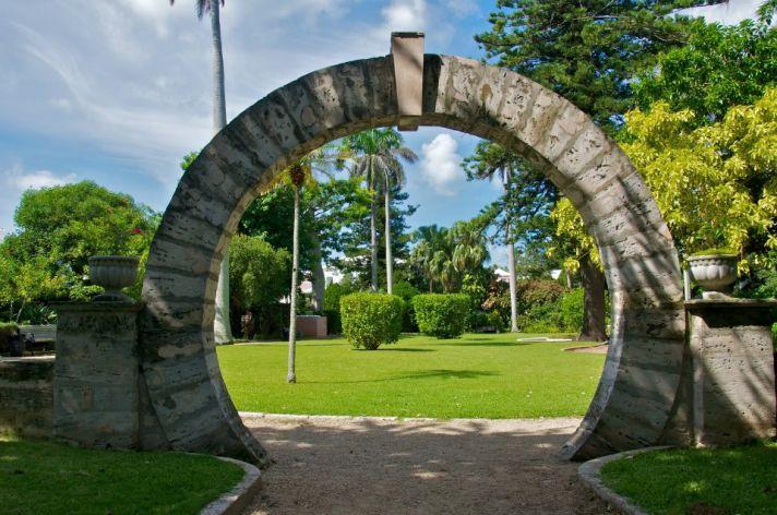 Bermuda honeymoons romantic moongate at Somers Garden