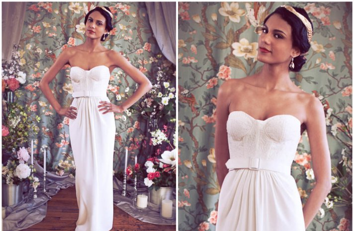 Rschone corset wedding dress with belt