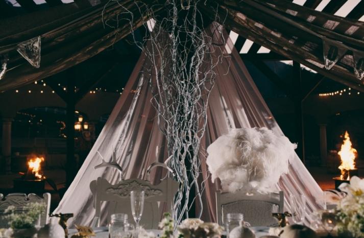 Portland real wedding enchanted head table