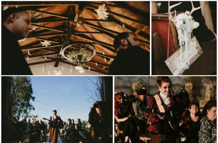Ranch wedding with rustic gothic twist