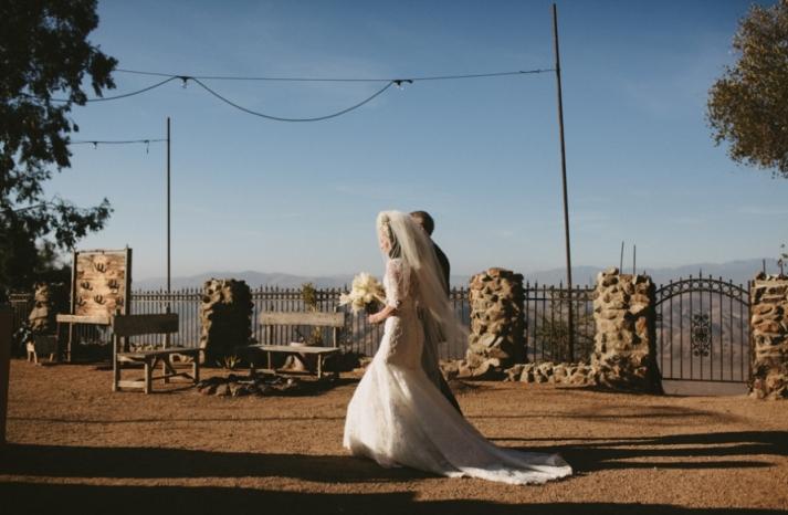 Portland real wedding bride walks the aisle