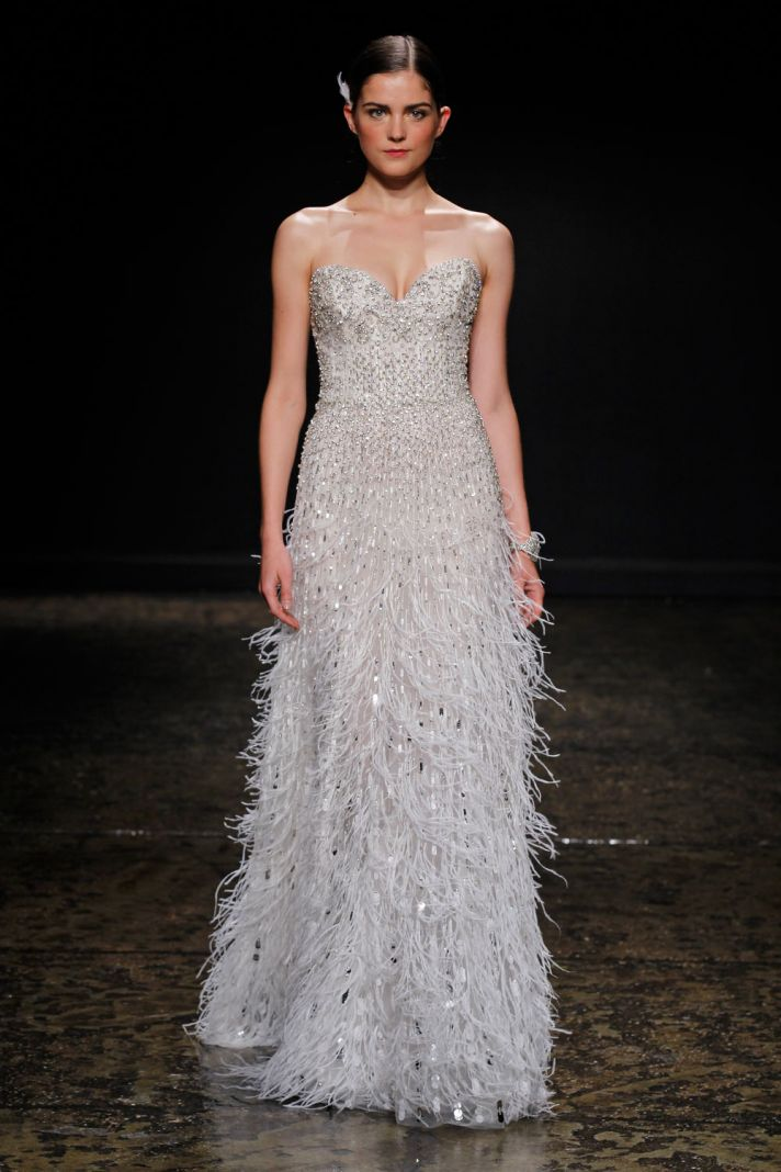 16 covetable bridal gowns from lazaro spring 2014 onewed for Where to buy lazaro wedding dresses