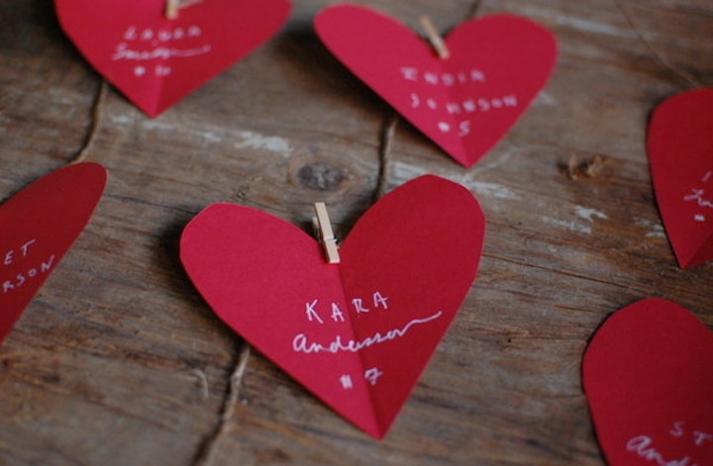 red heart diy wedding escort cards