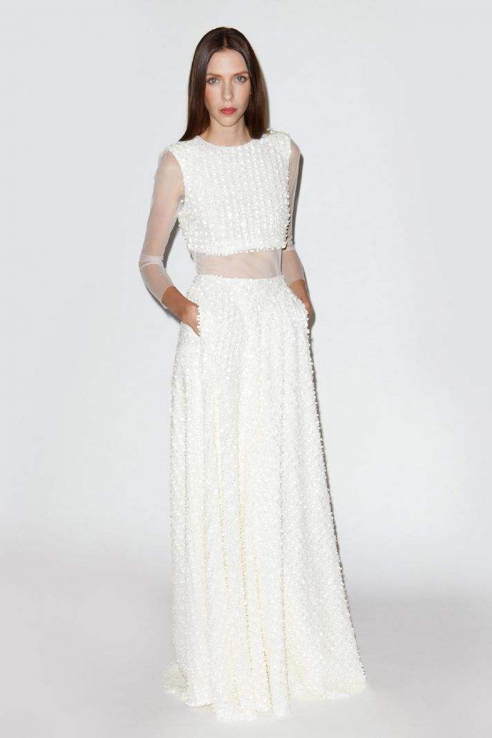 lace bridal skirt and top by Houghton Bride