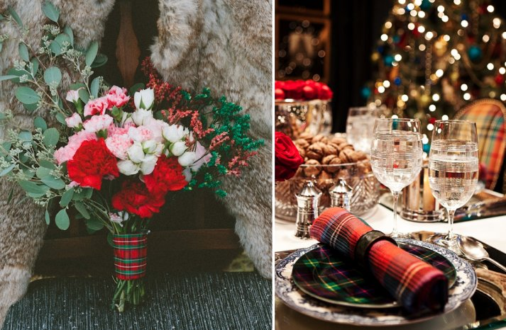 Plaid wedding inspiration for fall and winter brides