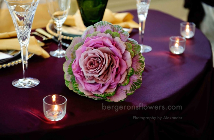 unique pink and green wedding bouquet