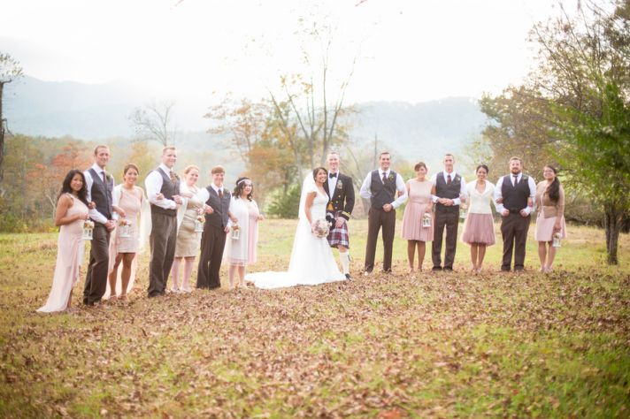 Filipino and Irish blush bridal party