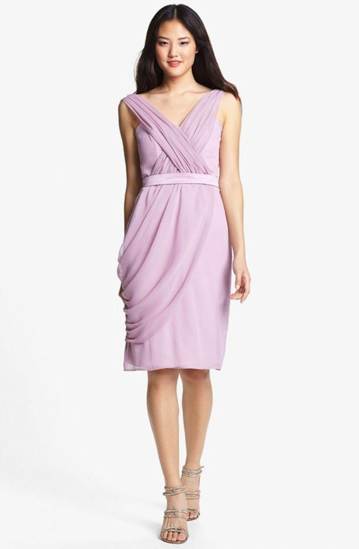 chiffon bridesmaids dress