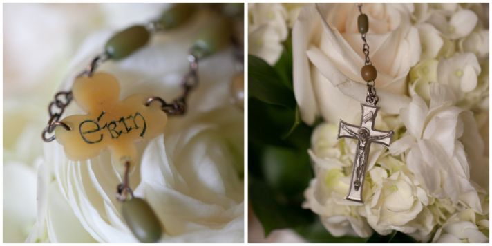 Bridal bouquet with cross