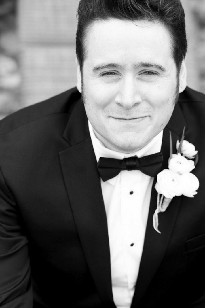 Groom in a classic tuxedo