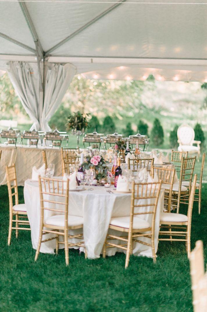 Gorgeous reception decor outdoors