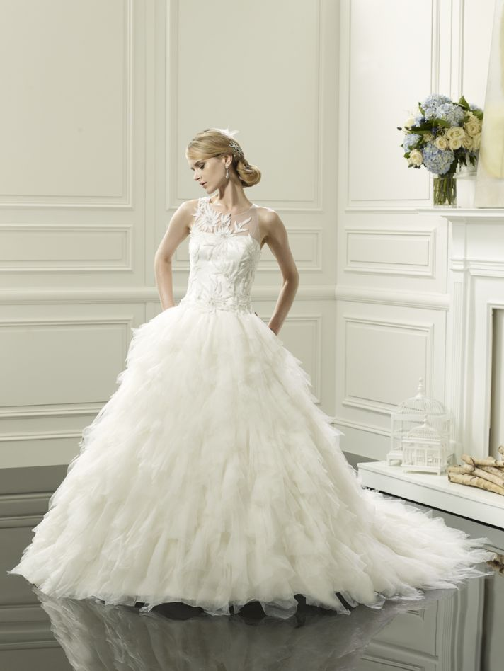 Feathered ball gown from Val Stefani