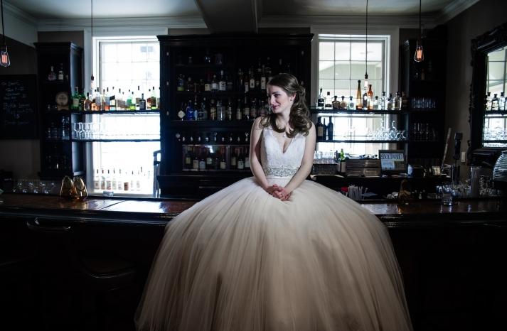 Blushing winter bride