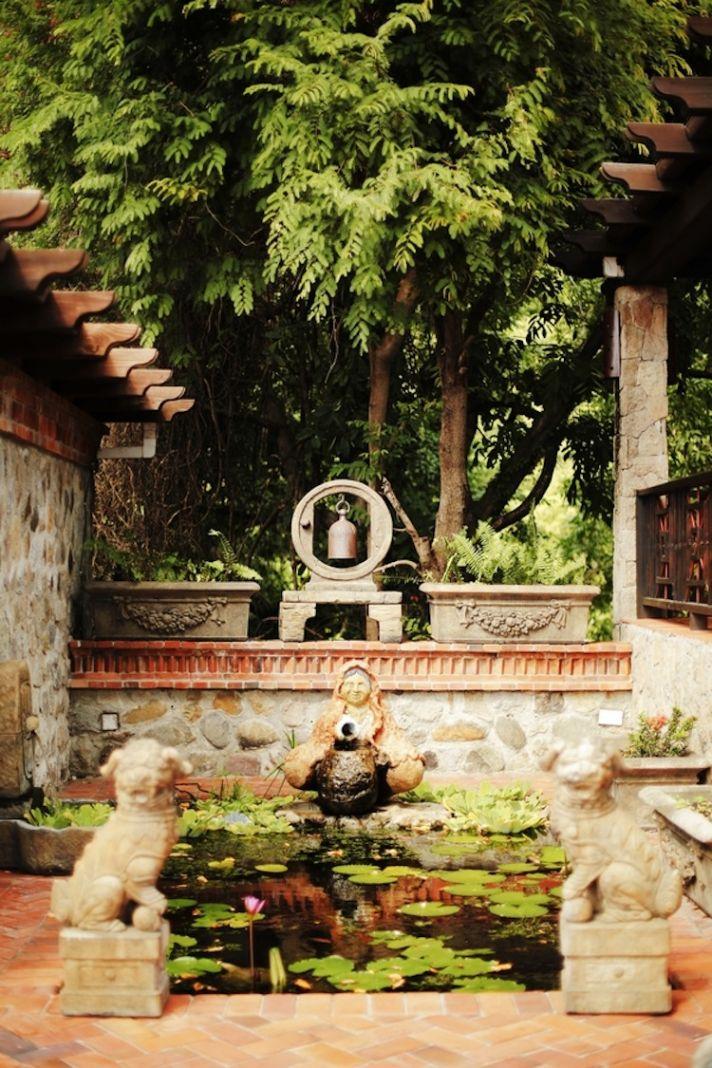 Asian garden in St Lucia