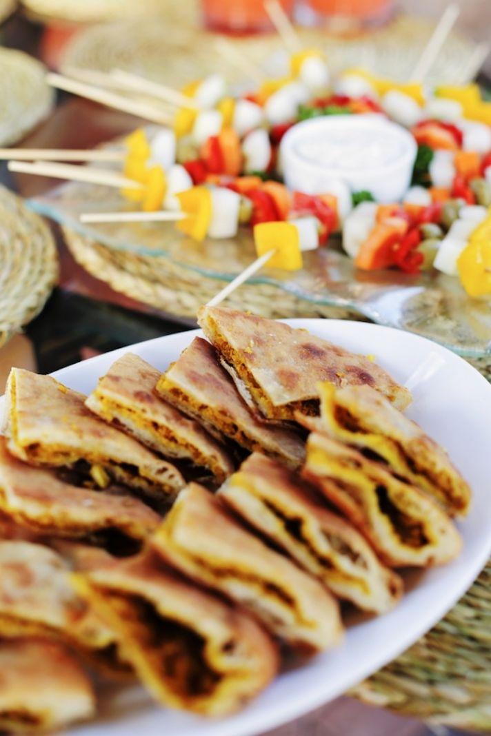 Caribbean wedding food