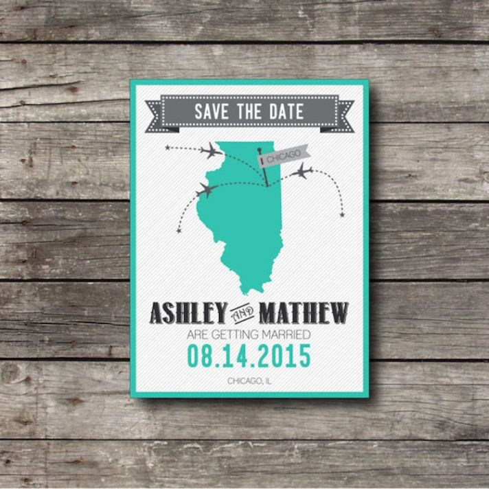 Custom city save the date