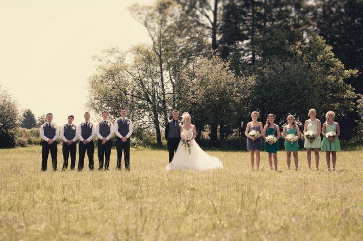 Vintage bridal party picture