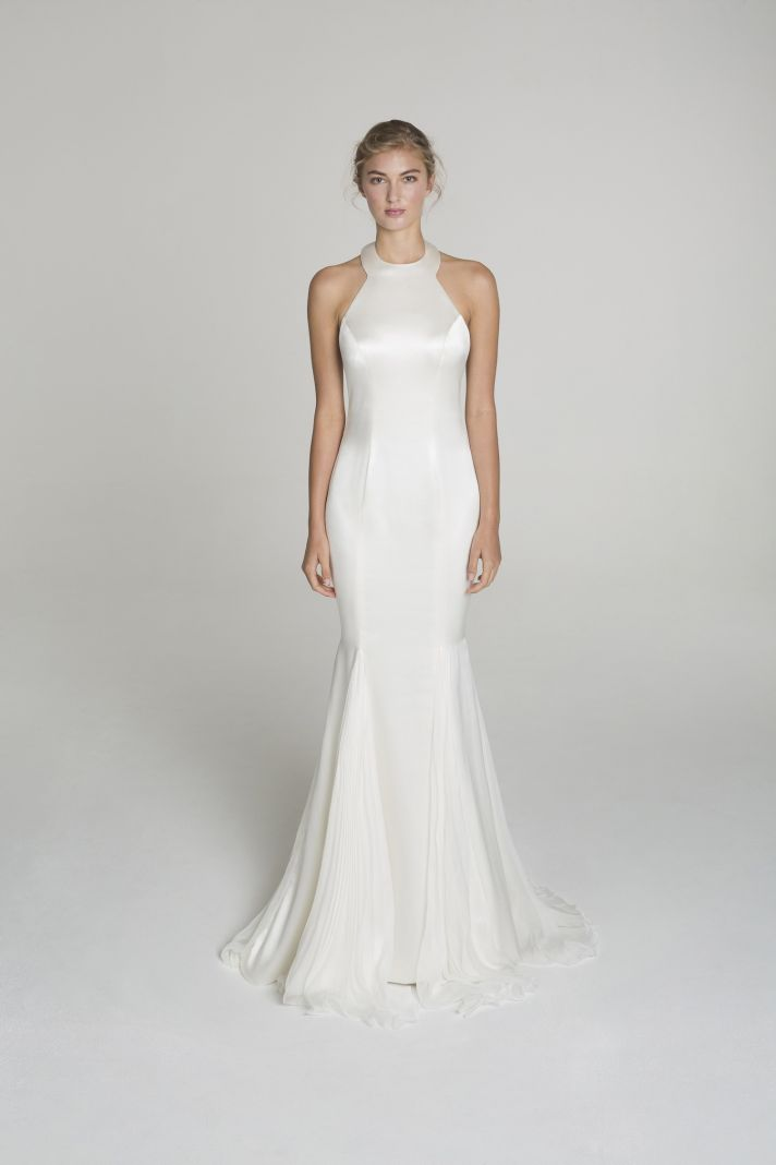 High neck wedding dress from Alana Aoun