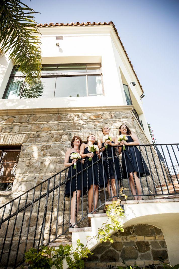 Midnight blue bridesmaids dresses