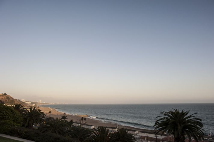 Real wedding ocean vista