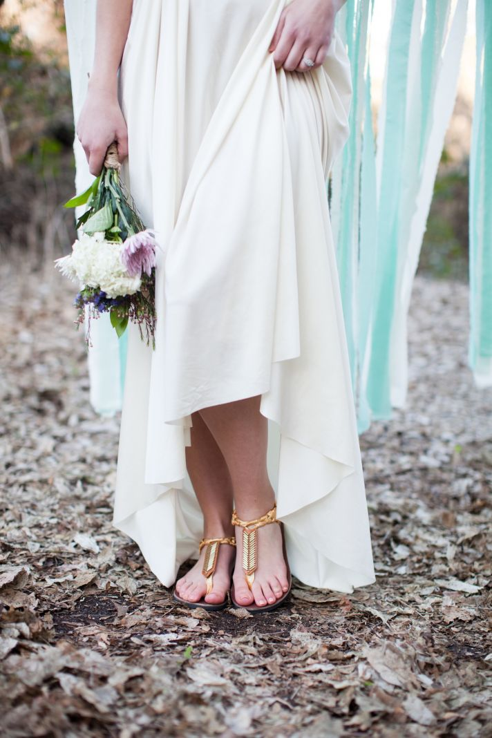 Beach sandals for a wedding