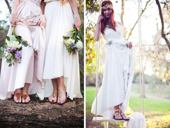 Bohemian bridal sandals