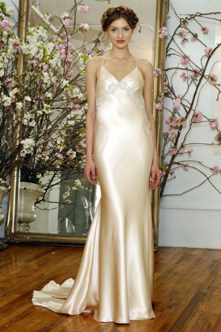 Silk slip wedding gown from Elizabeth Fillmore